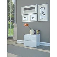 table de chevet laque blanc. Black Bedroom Furniture Sets. Home Design Ideas