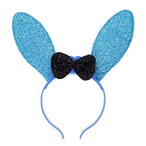 Lurrose LED Bunny Ohr Stirnband Niedlichen Bogen Beleuchtung Haarband Blinkende Haarband für Ostern Weihnachten Festival Kostüm (Zufällige Farbe)