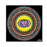 Colorvelvet 32x 32cm Ajna Chakra Farbgebung System (Mehrfarbig)