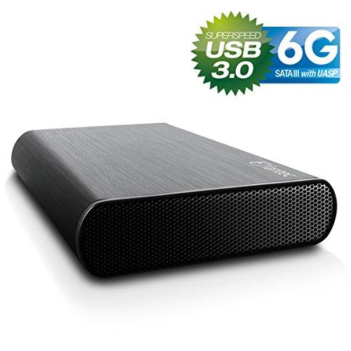 FANTEC DB-AluSky U3-6G Box Case Esterno per Hard Disk SATA I/II/III da 8,89 cm (3,5'), 6G e UASP, USB 3.0 SUPERSPEED, Case in Alluminio Spazzolato, Nero