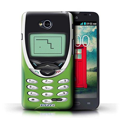 Coque de Stuff4 / Coque pour LG L70/D320 / Nokia 8210 noir Design / Portables rétro Collection Nokia 8210 chaux