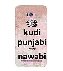 Kudi Punjabi 3D Hard Polycarbonate Designer Back Case Cover for Asus Zenfone Selfie ZD551KL