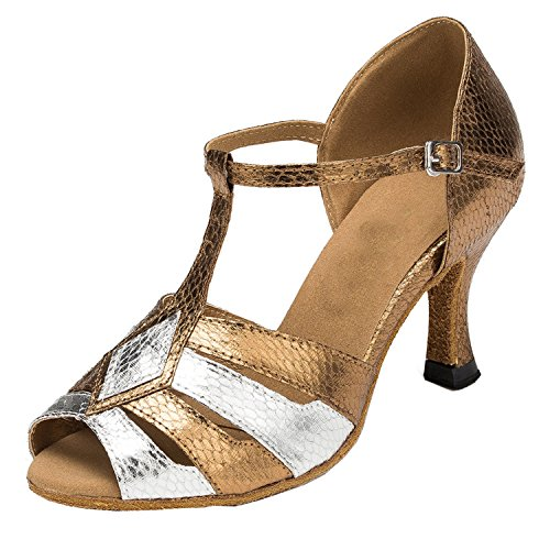 Minitoo Damen 3 cm gestreift Synthotic Dance Shoes Heel