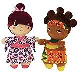 Jemini 023522–Lot de 2Puppen der Rest der Welt–Die Afrikanische–Die japonnaise