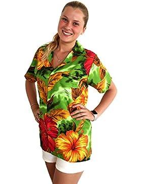Original King Kameha | Funky Camisa Hawaiana | Mujeres | XS - 6XL | Manga Corta | Bolsillo Delantero | impresión...