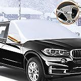 Audew Copri Parabrezza e Specchi Anti-Ghiaccio Protegge dal Sole, Ghiaccio, Gelo e Neve Large1.3m×1.5m×0.55m (Fit SUV)