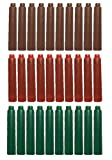 Taille 30PCS Jinhao internationale Pen Cartouche d'encre to Fit Stylo plume, Marron, Rouge, Vert