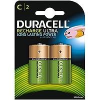 Duracell Recharge Ultra Piles Rechargeables type C 3000  mAh, Lot de 2