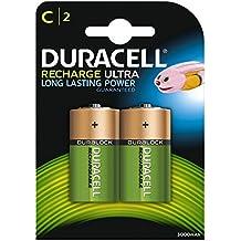 Duracell Recharge Ultra Batterie Ricaricabili, Stilo C, 3000 mAh, Confezione da 2