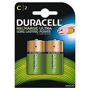 Duracell - pack de 2 piles Recharge Plus Rechargeables - type AA - 1300 Mah