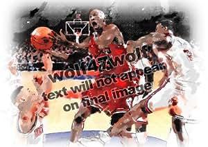 1/20 A4 (210 x 290 mm) Michael JORDAN NBA Chicago Bulls US signé imprimer photos C12