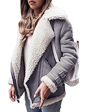 La Mujer Casual Winter Plus Tamaño Espesar Fleece Solapa Toggle Coats Outerwear