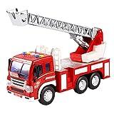 YeahiBaby Feuerwehrauto Spielzeug mit Drehleiter und Licht LKW Modell Spielfahrzeuge für Kinder