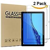 Msm-case [Lot de 2] New Huawei MediaPad T5 10 Film Protection Verre Trempé, Protecteur Ecran (9H, sans Bulles, Transparent)
