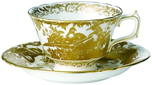 royal-crown-derby-rozir-oro-aves-taza-de-te-y-platillo-oro-blanco