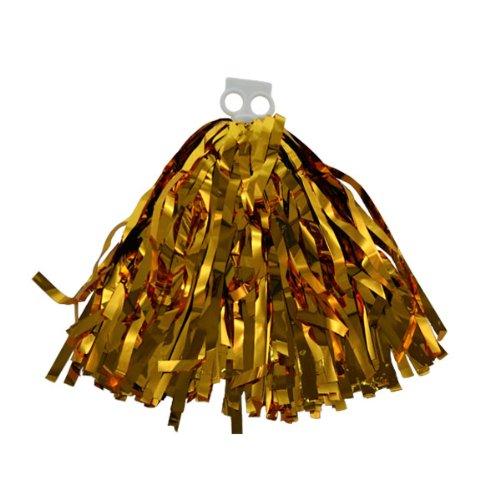 100g Cheerleading PomPom, Buschel für Party metallische Farbe: Pompon gold, 1 Stück pom pom