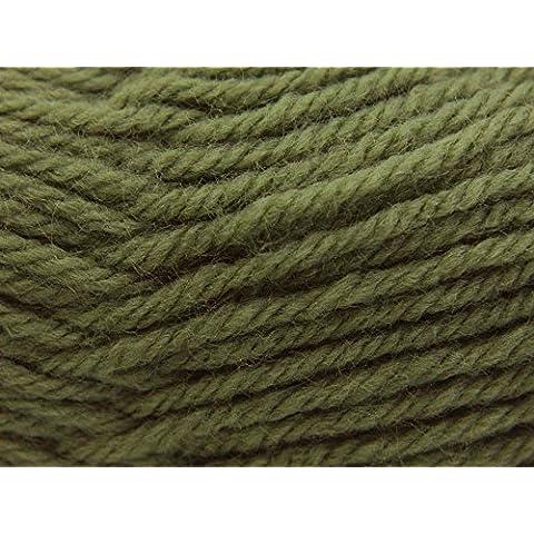 Sirdar wool 50 G verde 442 de punta de bola