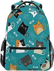 Rucksack Computer Rucksack Große Nette Katze Rasse Tier Schultaschen Casual Daypack für Studenten Mädchen Jungen Frau Männer Reisen Wandern Camping Laptop