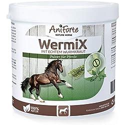 AniForte Formule de Ver Naturel 250 g pour Chevaux, Efficace, Aux actifs naturels de plantes pour Cheval