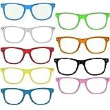 Nerd Clear OG NERD-BRILLEN 10 STÜCK ohne Gläser Party-Brille Spaß-Brille Geek-Brille Pantobrille Wayfarer Lese-Brille Horn-Brille