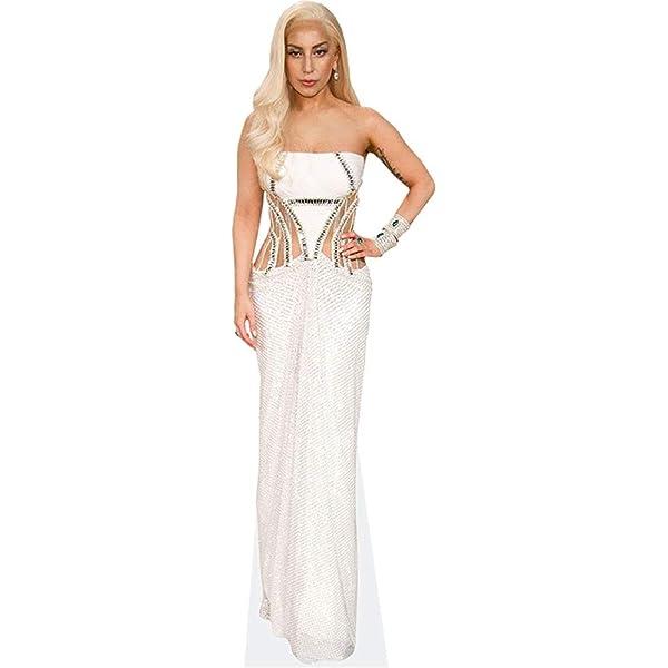 Red Dress Lady Gaga Pappaufsteller lebensgross