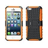 Coque iPhone 5S ,iPhone 5 Coque, Fetrim armure Support TPU Silicone + Plastique...