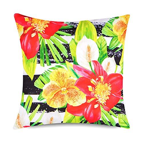 Bean Bag Bazaar Outdoor Kissen–43cm x 43cm–polsterfüllung, wasserabweisend–Bunter Deko Scatter Kissen für Gartenbank, Stuhl oder Sofa