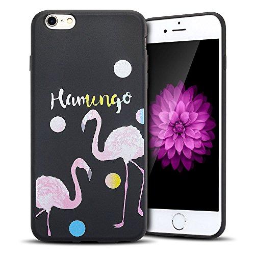 iPhone 6S Hülle , iPhone 6 Silikon Tasche Transparent Ultra Slim Weich TPU Schutzhülle Flexibel Rubber Ultradünnen Etui Anti-stoß Fit Cove Telefon-Kasten Kratzfeste Schutz Schale Anfire Kreative Case  Flamingo 2