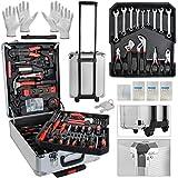 MALATEC Werkzeugkoffer1000 teiligWerkzeug Trolley WerkzeugkisteAlukoffer Profi Silber 7760