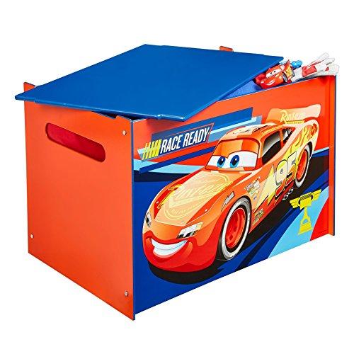 Worlds apart hellohome scatola porta giochi di cars, legno, multicolore, 39.5x59.5x39.5 cm