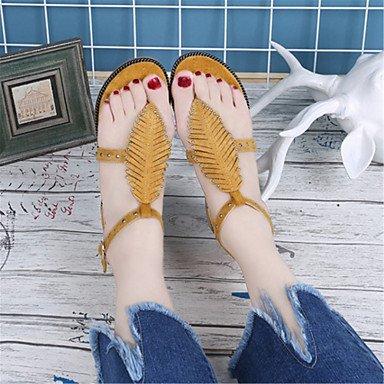 LvYuan Femme Sandales Nouveauté Chaussures formelles Similicuir Eté Décontracté Habillé Soirée & Evénement Nouveauté Chaussures formellesTalon Black