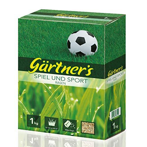 Preisvergleich Produktbild Gärtner's Sport- und Spielrasen 2 kg,  Rasensamen für strapazierfähigen Rasen,  RSM-Saatgutmischung zur Neuanlage und Pflege von Grünflächen,  2 kg