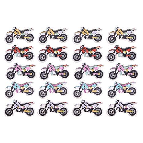 Healifty 50pcs moto en bois décorative peinte boutons à fine bordure attache pour scrapbooking chapeaux artisanat