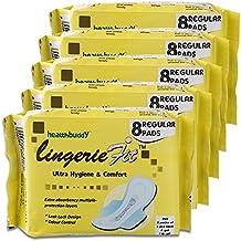 Healthbuddy Lingerie Fit Sanitary Pad Regular- 5 Packs Of 8 Pcs Each