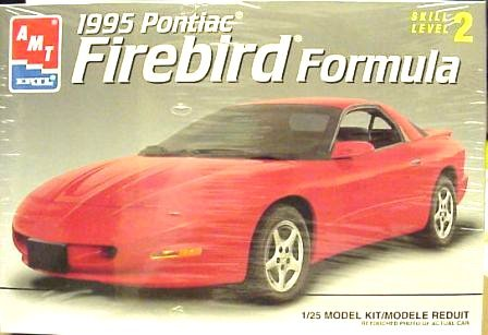 #6562 AMT/Ertl 1995 Pontiac Firebird Formula 1/25 Scale Plastic Model Kit,Needs Assembly by AMT Ertl