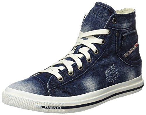 Esposizione Mens Magneti Diesel E Sneakers Alte Blu Blu (t6067 Indigo)
