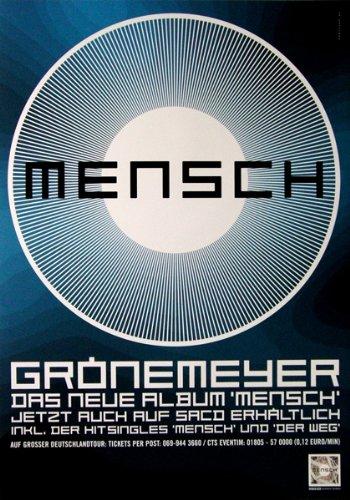 GRÖNEMEYER, HERBERT - 2003 - Promoplakat - Mensch