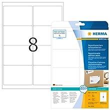 HERMA 10018 Repositionable address labels A4 99,1x67,7 mm white Movables paper matt 200 pcs.