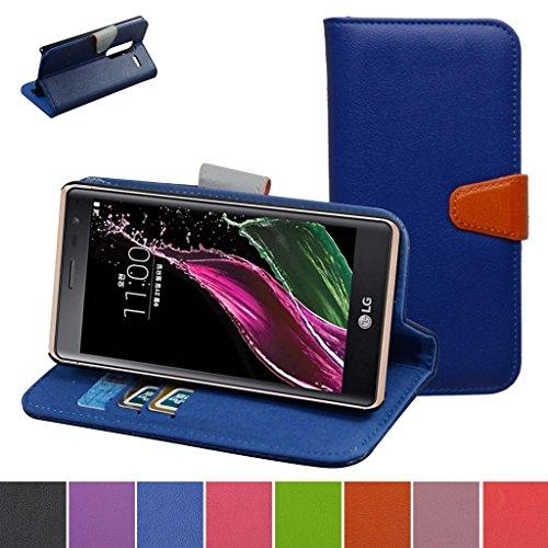LG Zero H650 / LG Class Custodia,Mama Mouth Portafoglio custodia in PU di cuoio pelle con supporto carte di credito in Piedi caso Case per LG Class H650K F620K F620S F620L Smartphone,Deep Blue
