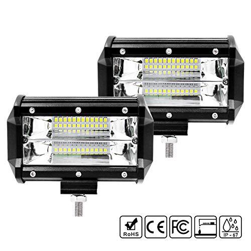 Favoto Fari LED da Lavoro per Auto 36W*2 Luci Impermeabili IP67 per 10-48V Fuoristrada Camion (Confezione da 2)