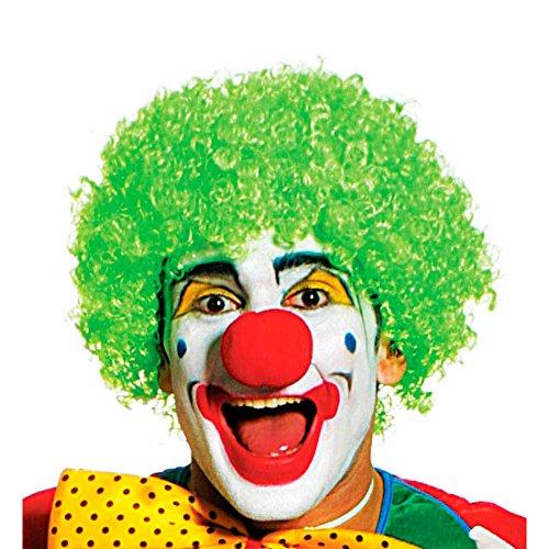 NET TOYS Grüne Clown Perücke Narr Harlekin Clownsperücke Clownperücke grün Narrenperücke Narren Fasching Karneval