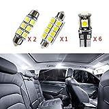per Jetta MK5 Passat B6 R36 Super Luminoso Sorgente luci Interne a LED Lampada per Auto abitacolo Lampadine di Ricambio Bianca Confezione da 9