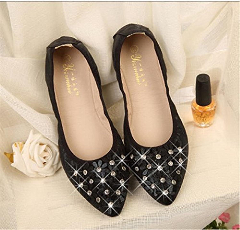 HN Shoes Mujer Bailarina Zapatillas Ballet Zapatos Plano Ponerse Muñequita Confortable Casual Trabajo Tamaño 35...