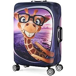 """3D Print Jirafa Diseño Travel Trolley Case Cover Protector Maleta cubierta 30""""-32"""" Trolley Case Cubiertas de almacenamiento de equipaje Tamaño XL"""