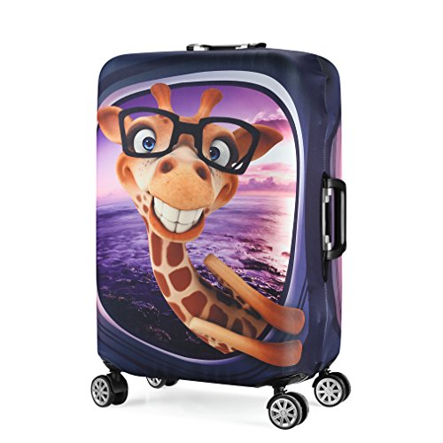 Stampa 3D Giraffe Design Trolley da viaggio Custodia protettiva Custodia da viaggio Custodia da 30'-32' Trolley Custodia per bagagli Dimensioni XL