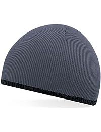 Beechfield Bonnet en acrylique tricoté pour adulte 2 couleurs