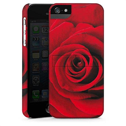 Apple iPhone X Silikon Hülle Case Schutzhülle Rot Rosen Blumen Premium Case StandUp
