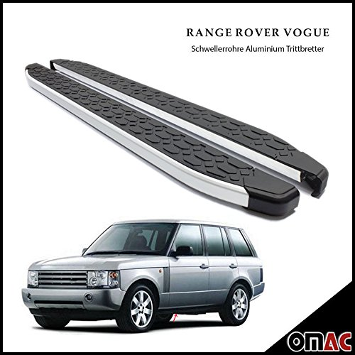 OMAC Range Rover Vogue Trittbretter Schwellerrohre ALU für Blackline 193 2002-2012 Range Rover Vogue