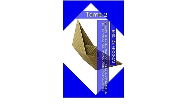 origami loufoque billets d humour pensees aphorismes petites annonces haikus debrides holorimes french edition