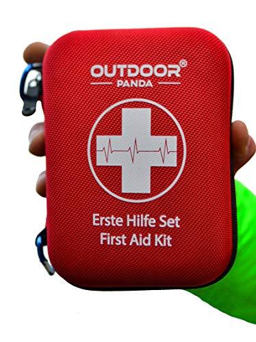 Notfall Erste Hilfe Set mit Inhalt aus Deutschland nach DIN 13167 + Notfallbeatmungshilfe + Burnshield-Gel für Brandwunden -